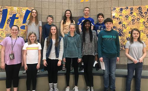 April 2019 Students of the Month