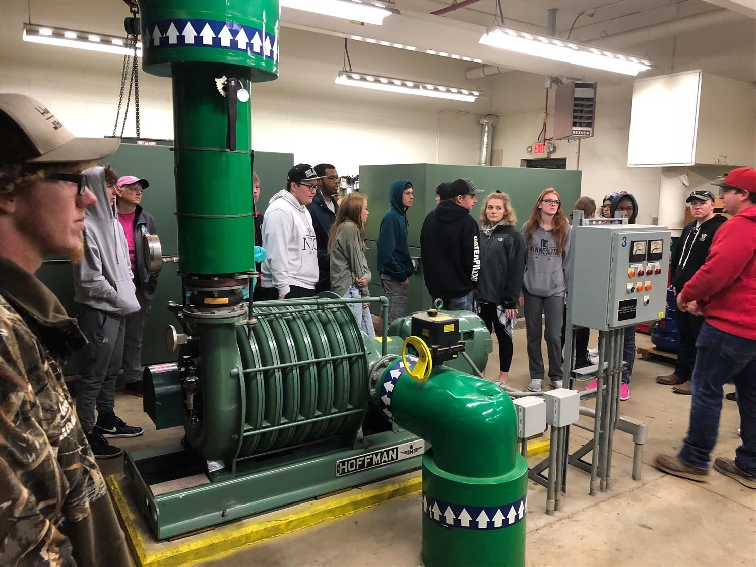KA students at the waste water treatment plant
