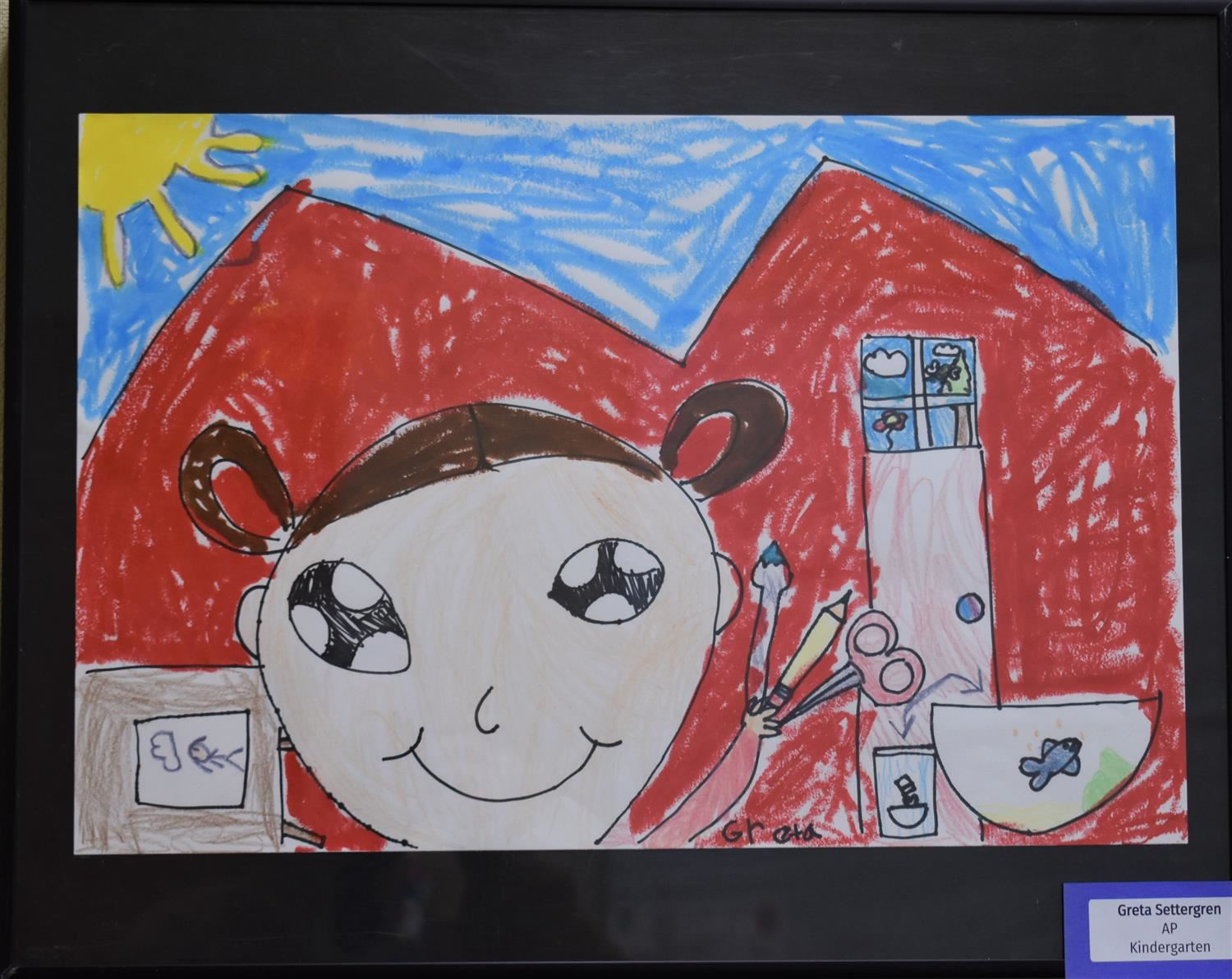 Student Artwork Selected for District Office Art Gallery