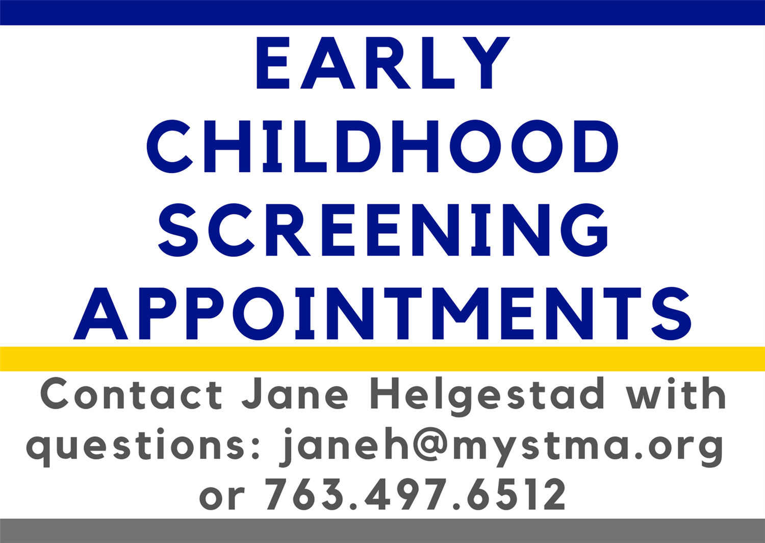 Click Here to Make a Screening Appointment